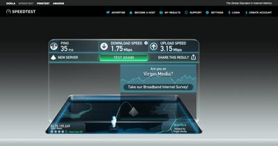 Virgin check speed download