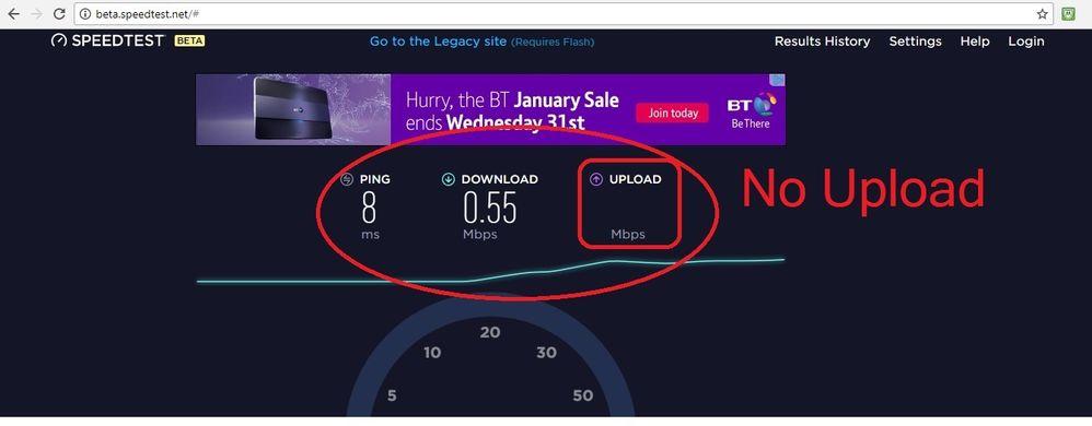 Virgin Super Fibre 100Mbps 28.12.2017