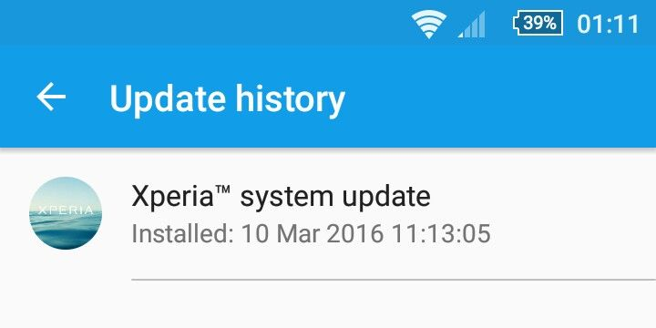 When hitting on Xperia System Update this brings up the page in question.