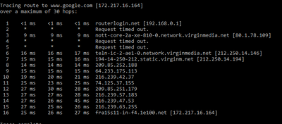 traceroute seems fine.