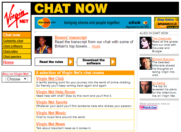 The Virgin.net Community, 1999.