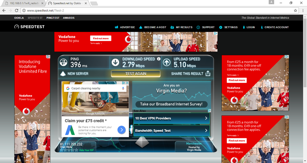 this cant be right for 200mb vivid wired, 2nd engineer visit said its normal