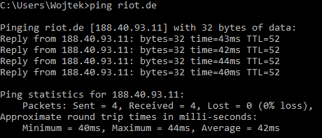 Ping without YT
