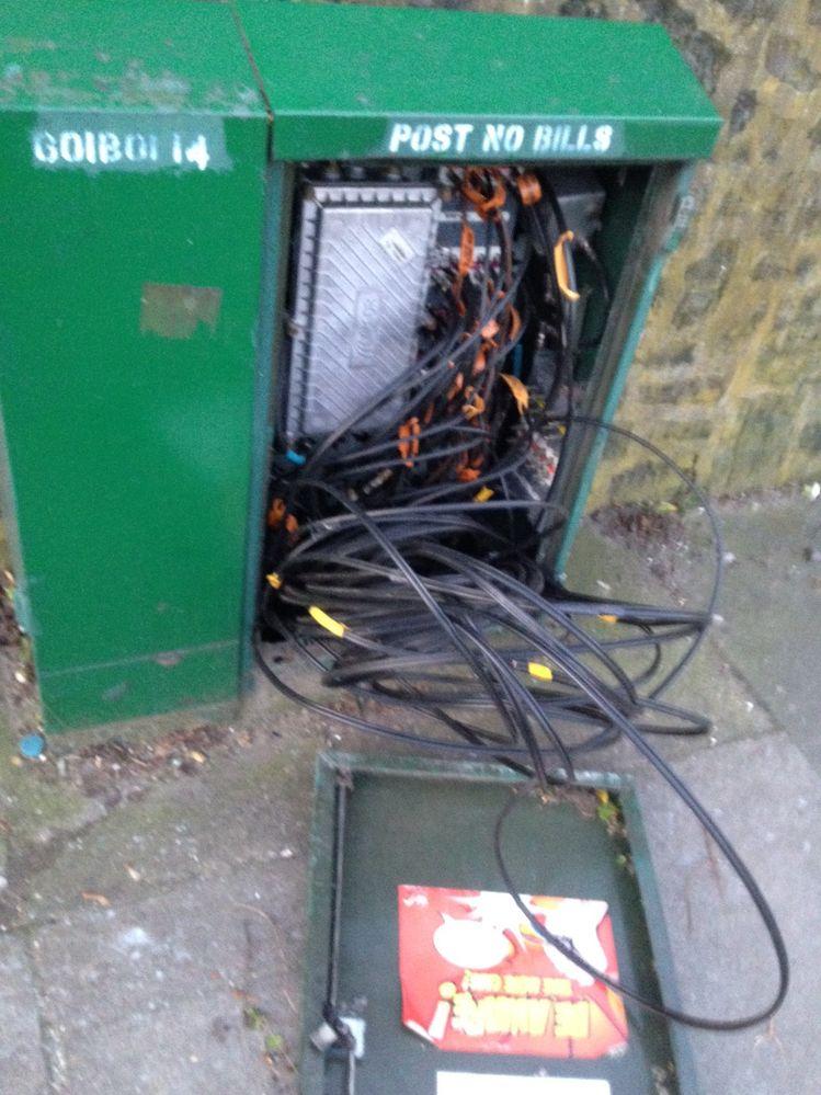 Broken VM Cabinet o/s 40 Bostall Hill, London SE2 0QY