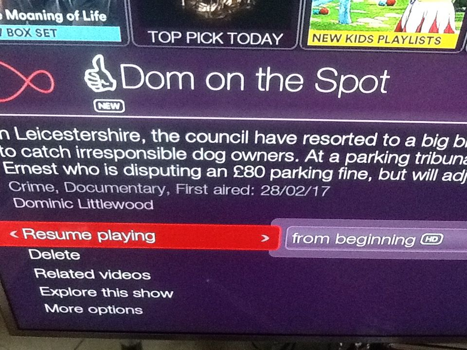 Note the 'First aired' date.