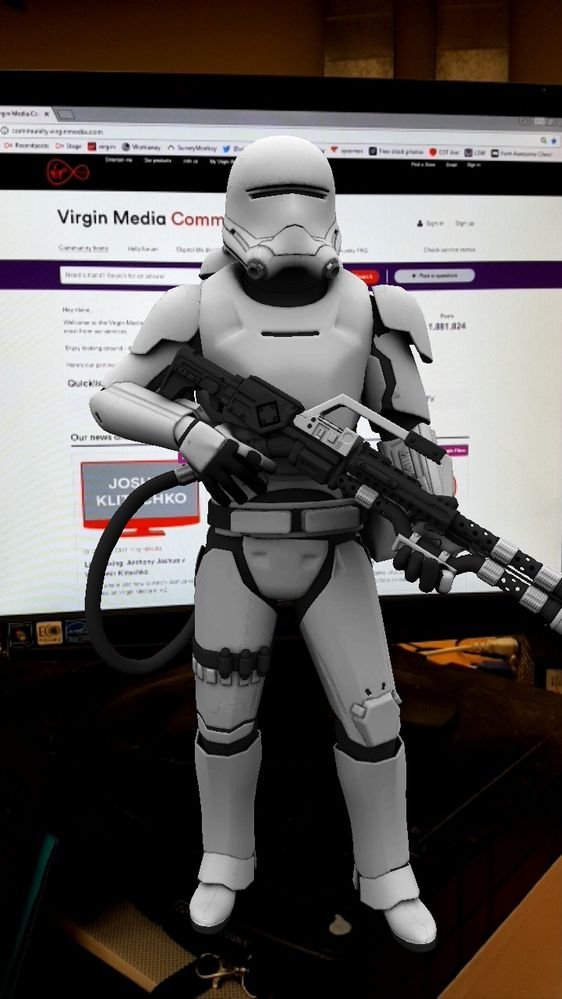 Flametrooper visits the Community