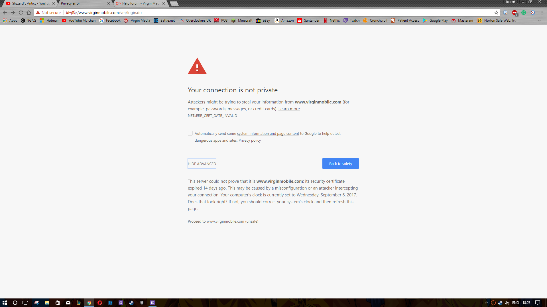Solved mobile site not secure virgin media community 1betcityfo Gallery