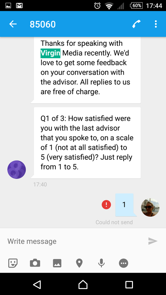 txt saying feedback is free