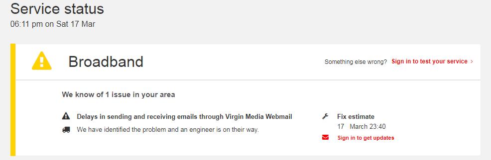 Possible Problems Sending Email Virgin Media Community 3679447