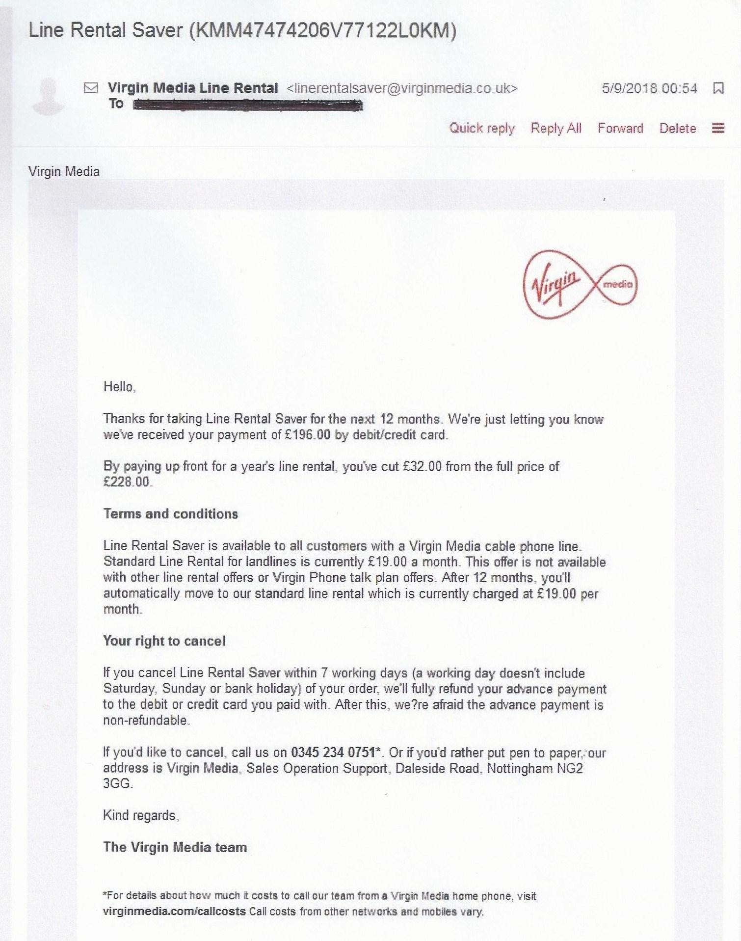 Line Rental Saver >> Solved: Line rental saver SCRAPPED!!! - Page 5 - Virgin Media Community - 3808136