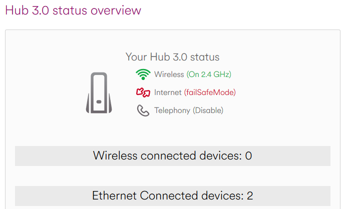 Wifi authentication error - all devices - Virgin Media