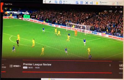 Virgin TV app Info bar at bottom of screen - Virgin Media