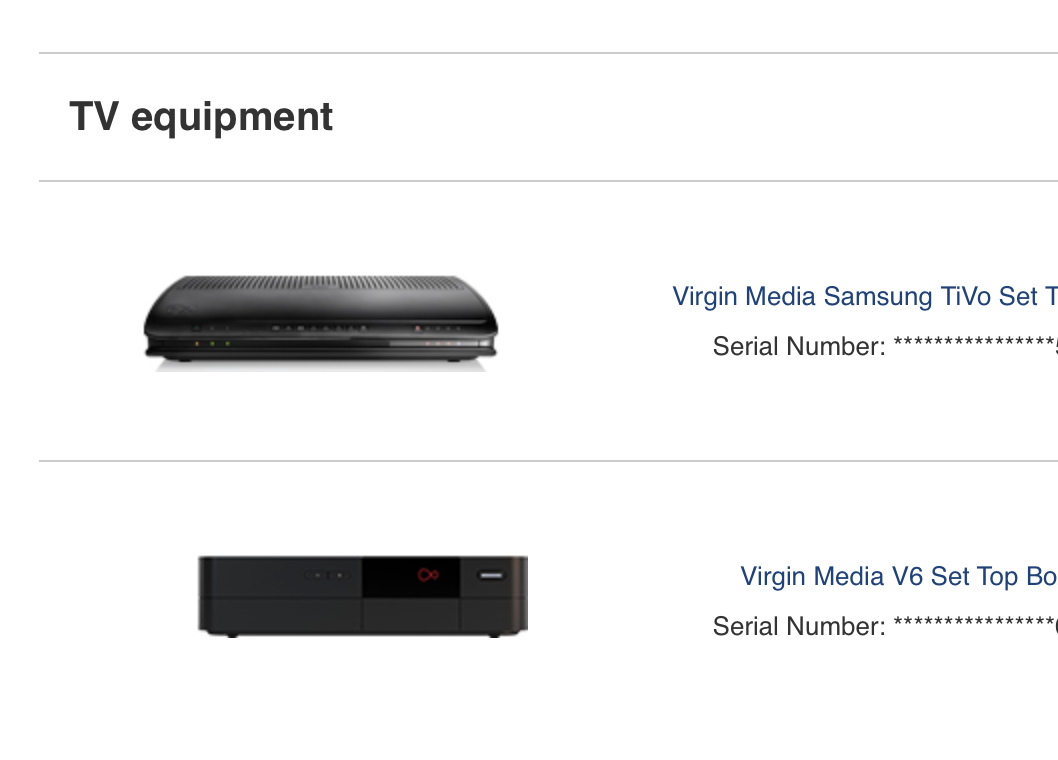 What does 'Unable to acquire channel info (S106) m    - Virgin Media