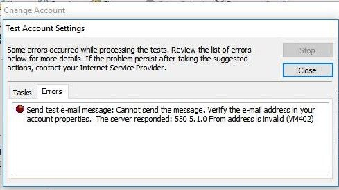 Solved: Cannot Send emails from my primary account email a