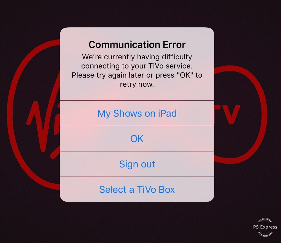 Solved: TV control app on ipad/iPhone won't connect to TiV