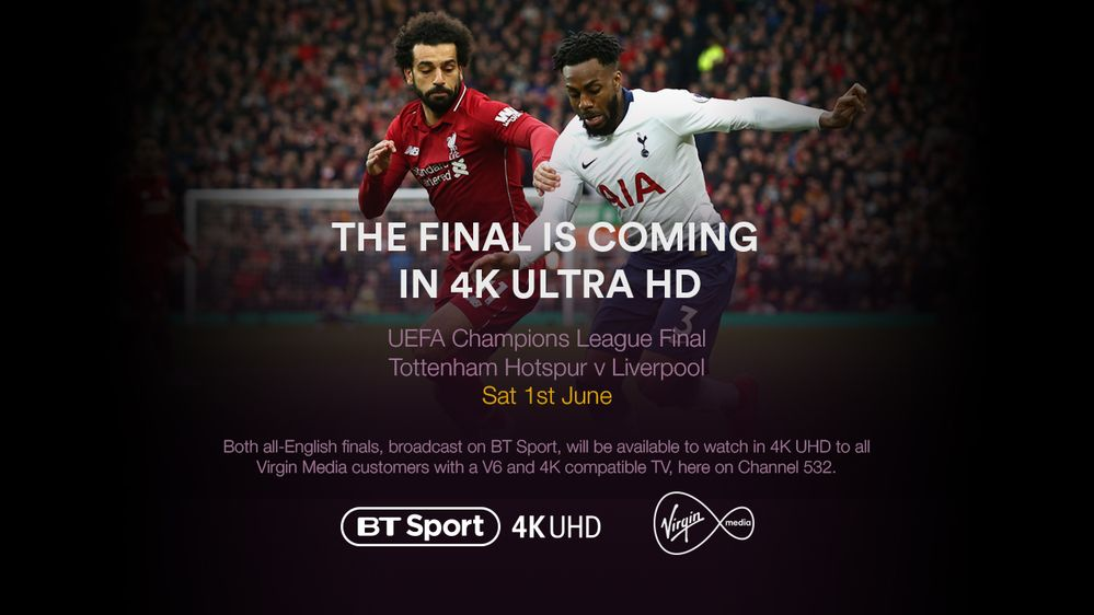 Watch the Champions League final for free in 4K UHD with