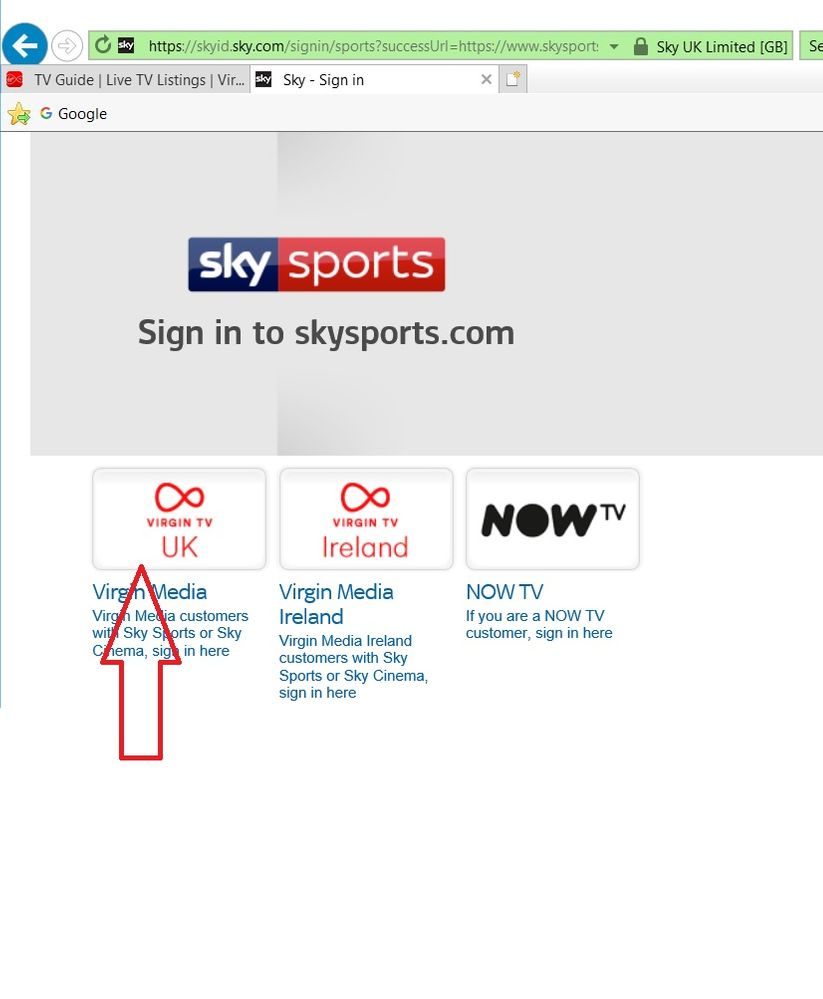 TV Go - Sky sports and cinema wont login on to sky    - Page