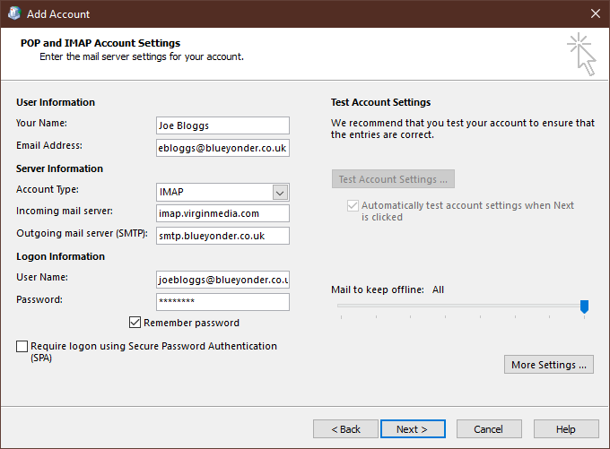 Solved Unable To Send Emails From Blueyonder Account In O