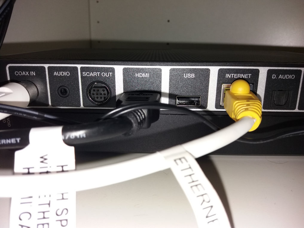 Solved: Audio sockets on V6 Box - Virgin Media Community - 3711650