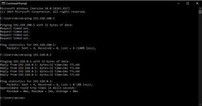 Superhub + Router Ping: 18th Feb, 10.58