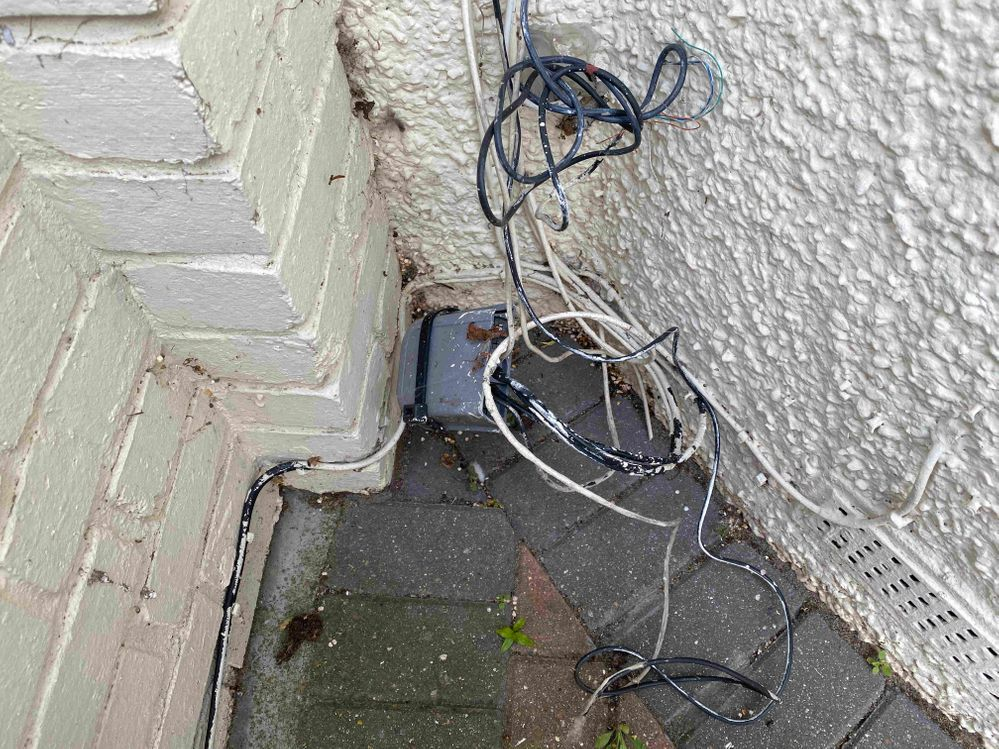 Where the cabling leads to.