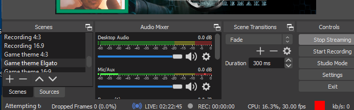 Bit rate 0 on OBS