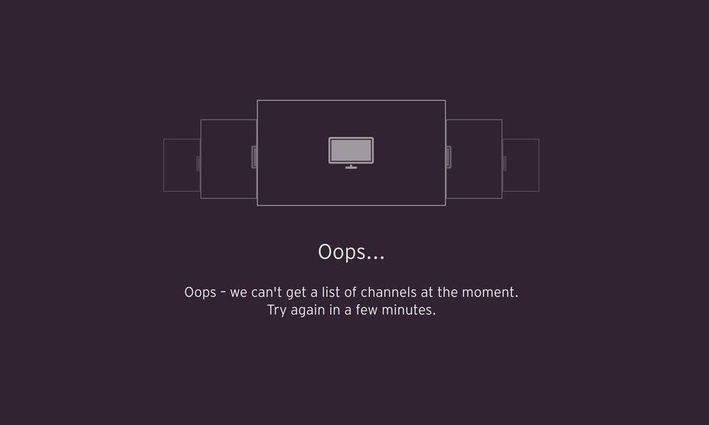 TV Go error message