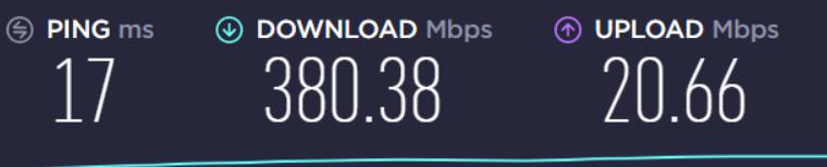 wireless speed only