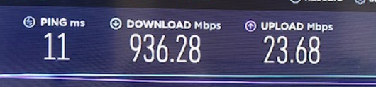 wired speed only