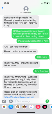 Messages had clumsy formatting, which made me doubt their authenticity.
