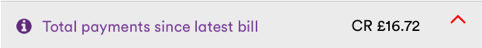 an extract from My Bills > Overview