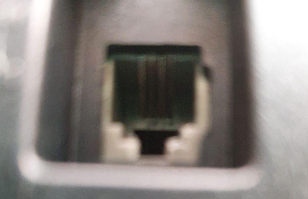 port at back of handset