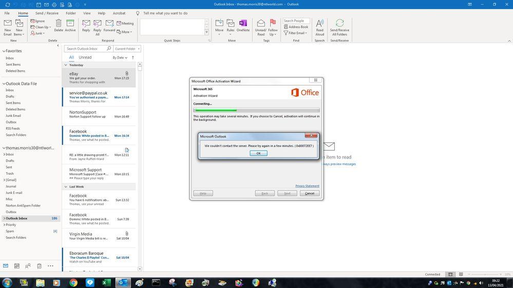 Microsoft 350 activation error..jpg