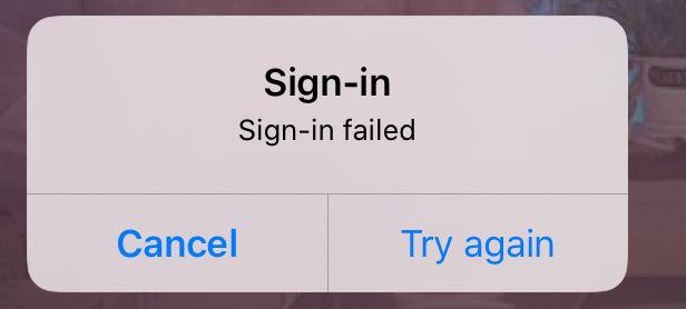 iPad app error