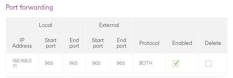 Solved: Port Forwarding on Hub 3 - Virgin Media Community - 3009940