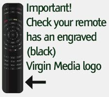 Set-up Your Virgin Remote Control to operate the V