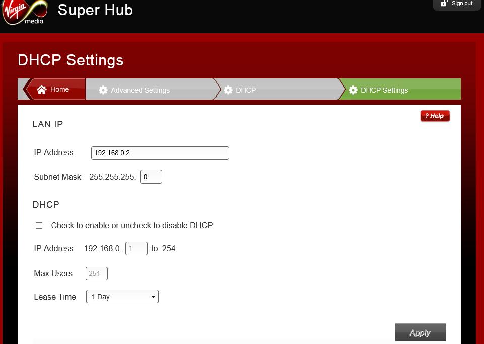 Use SuperHub 2 as Wifi Repeater / Ethernet Hub - Virgin Media