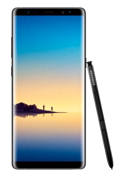 Samsung Galaxy Note 8, with stylus