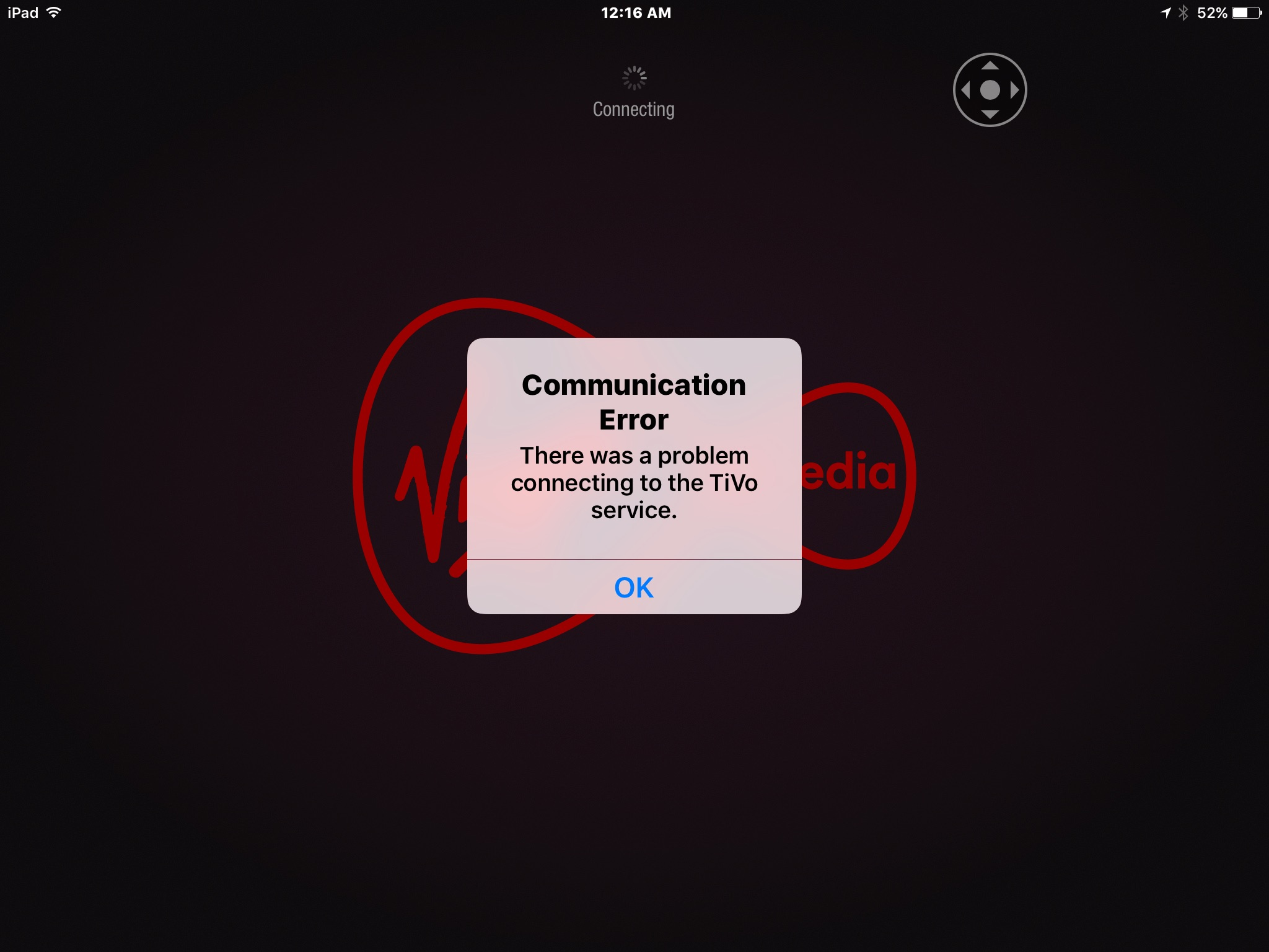 Solved: Communication error message from TiVo service. - Virgin Media Community