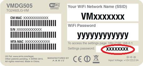 hub 3 0 settings password not working virgin media community. Black Bedroom Furniture Sets. Home Design Ideas