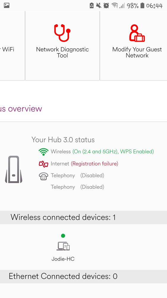 Solved Green Wifi Symbol And Green Flashing Light On Hub Page 2