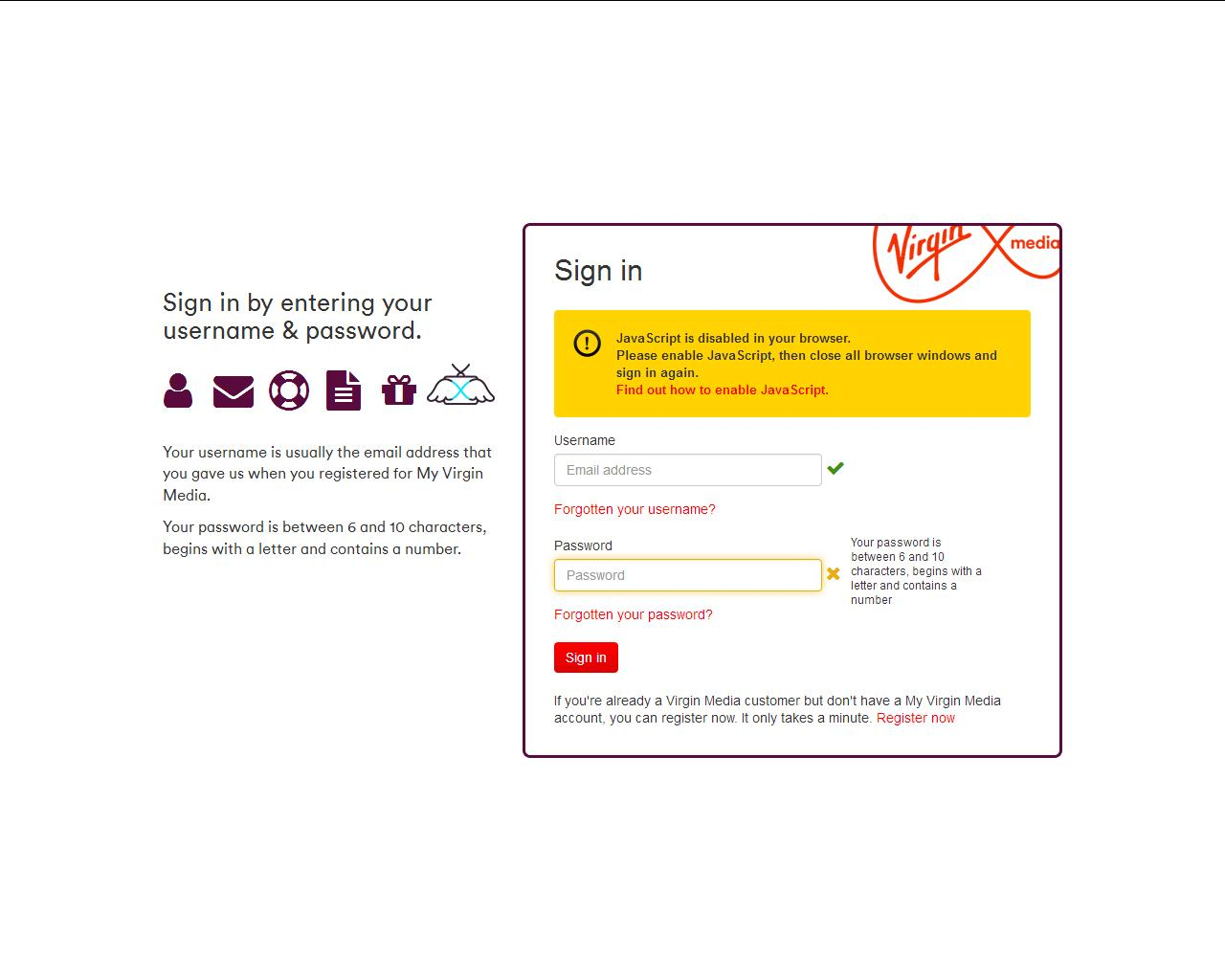 Javascript disabled virgin media community ccuart Images