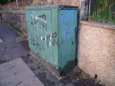 Virgin cabinet: graffiti & wires