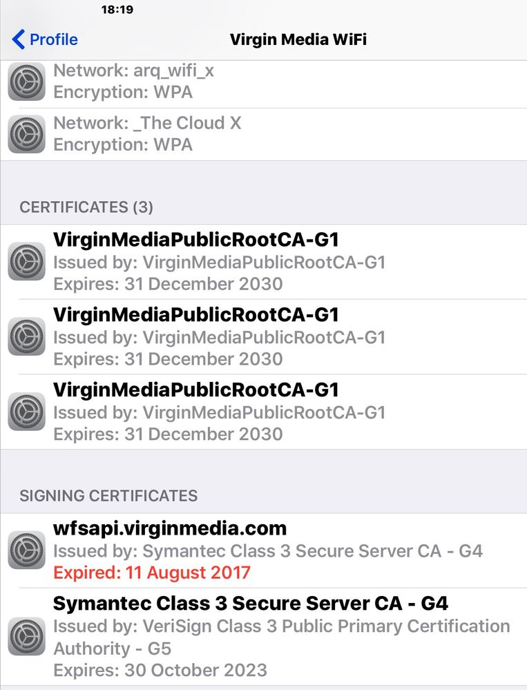 Solved: Invalid certificate causing problems - Virgin Media Community